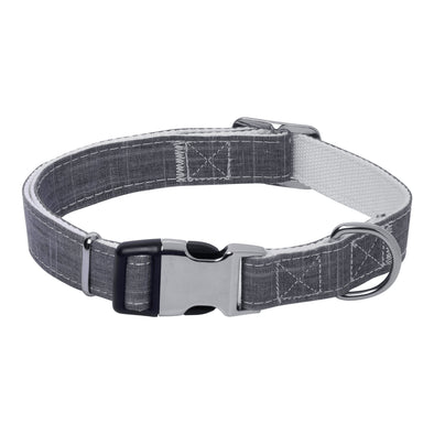 Dog Collar Bamboo Fiber Collection-Grey