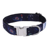 Dog Collar Space Walk-Core Collar Heavy Duty-Rustproof Adjustable Metal Buckles for Small-Medium-Large Breeds