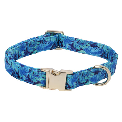 Eden Garden-Venice-Blue-Dog Collar for Small-Medium Dogs