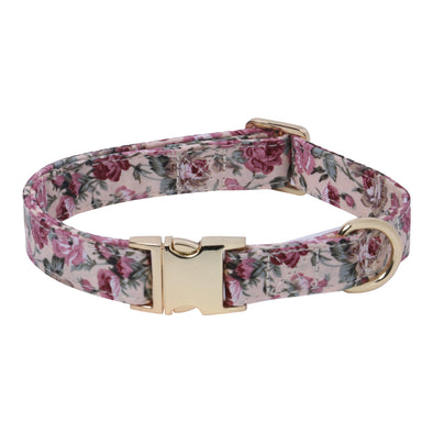 Eden Garden-Venice-Vintage Pink-Dog Collar for Small-Medium Dogs