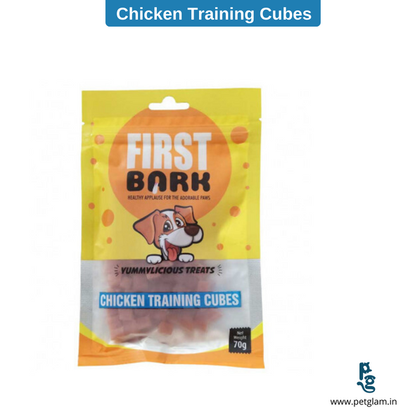 First Bark Dog Treat Chicken Training Cubes 70 Gms