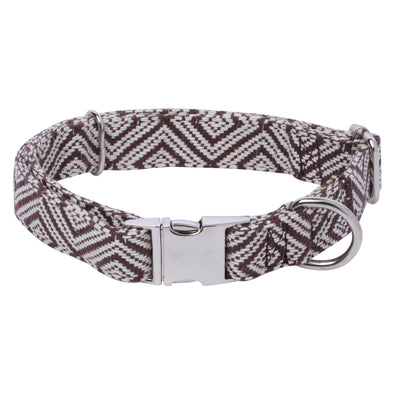 Jacquard Brown-Dog Collar for Shih Tzu-Pugs-Beagles-Labradors-Lhasa-Indies-Husky-GSD