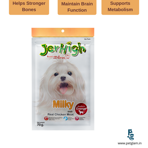 Jerhigh Milky Stick- Dog Treats & Chew Sticks 70 Gms
