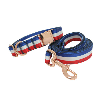 Liberty-Dog Collar Leash Set-Rose Gold Buckles