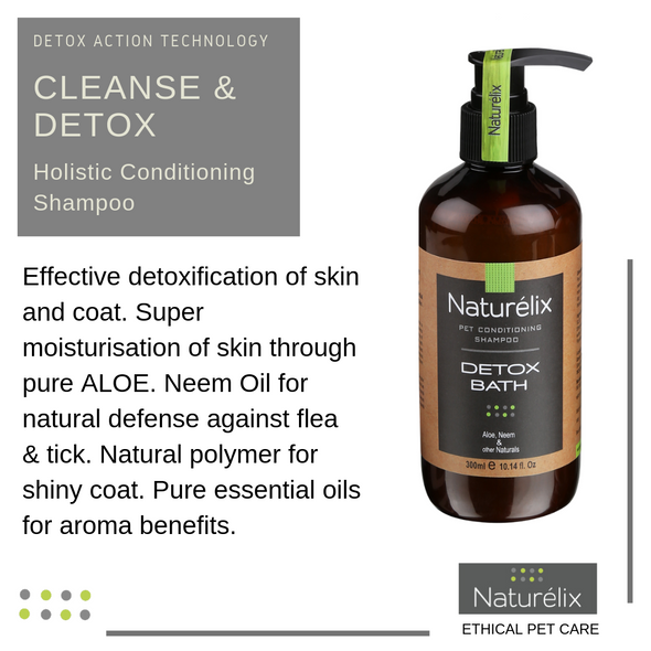 Naturelix-Detox Bath-Best Tick & Flea Repellent Dog Shampoo & Conditioner-Control Body Odour in Dogs
