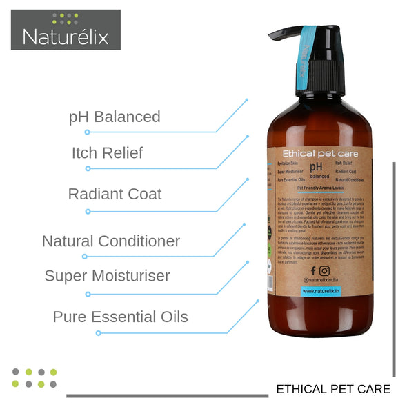 Naturelix-Spa Care-Dog Shampoo & Conditioner for Hair Fall Control & Skin issues & Body Odour in Dogs & Cats