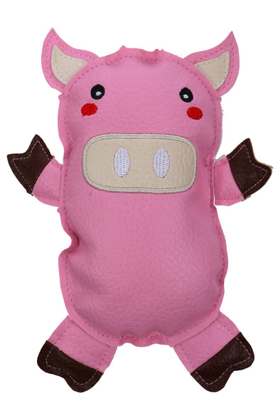 Mr.Pig-Pink-Squeaky Toy for Puppy Dog Cat Kitten