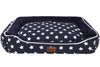 Pet Glam Fabric Washable Dog Bed for Golden Retriever, Labrador, German Shepherd, Rottweiler (Navy Blue, XXL)