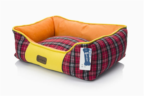 Scottish Dog-Bed with Washable Cover-Small Cats & Dogs
