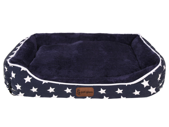 Star Dog Bed with Washable Covers for Small-Medium Breeds