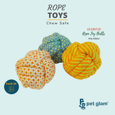 Assorted Rope Toy Balls (Pack Of 2)
