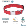 Dog Collar Anchor Red-Core Collar Heavy Duty-Rustproof Adjustable Metal Buckles for Small-Medium-Large Breeds