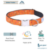 Dog Collar Globe Trotter-Core Collar-Heavy Duty-Rustproof Adjustable Metal Buckles for Small-Medium-Large Breeds