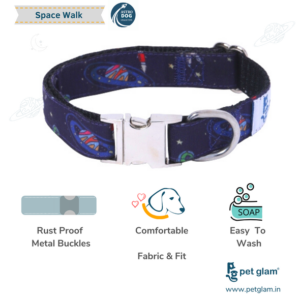Space Walk Dog Collar Leash Set for Beagles-Shihtzu-Lhasa-Indies