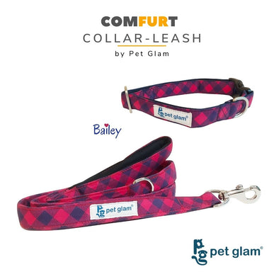 Pet Glam Bailey Dog Collar Leash Set -for Beagles ShihTzu Lhasa Labradors