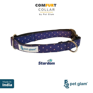 Pet Glam Dog Collar Stardom -Comfortable Padded Lining-for Medium-Large Dogs-Durable Hardware-Fits-Beagles, Labs, Indies, Gold Retrievers, Huskies