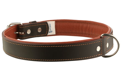 Pet Glam Leather Dog Collar Lyka Brown 70 Cms Xtra-Large