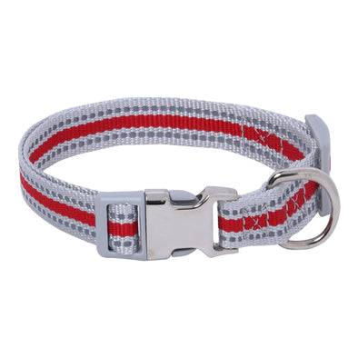 Stripe Nite-Dog Collar-Reflective Dog Collars for puppies-strays dogs-