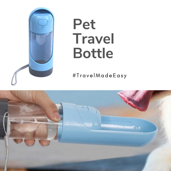 Travel Bottle for Pets with Filter-Pet Glam-Pet travel-accessories for dogs and cats-pet adventure-india- doggy bottle- 5 things to take when travelling with pets-