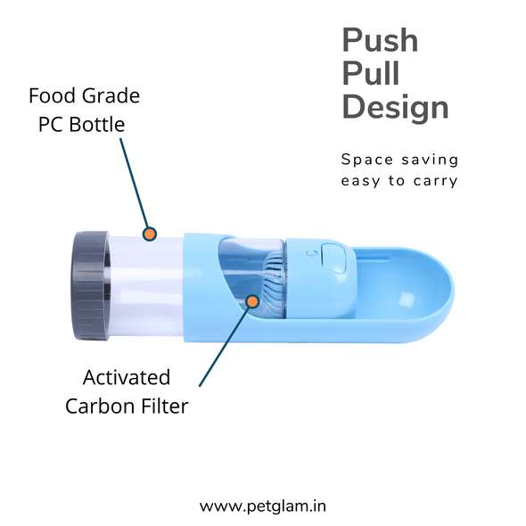 Travel Bottle For Pets with Filter