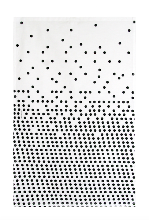 Dots, 100% cotton tea towel, icelandic design.