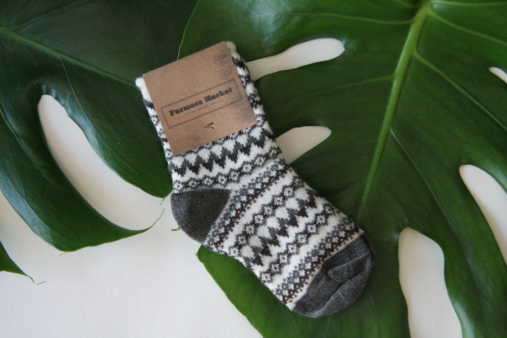 Reykjahlid. Warm and soft woolen socks baby socks, Icelandic design