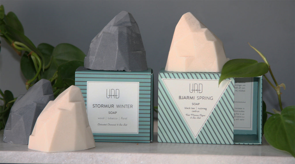The Fjall (mountain) soaps are handmade. Made with natural oils which leave the skin feeling soft and nourished.