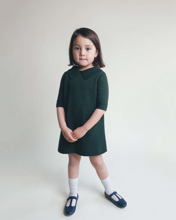 Sister dress in green, made from 100% durable cotton, icelandic design