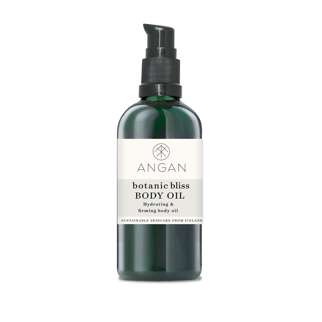 Botanic bliss body oil, hydrating and firming body oil from Iceland