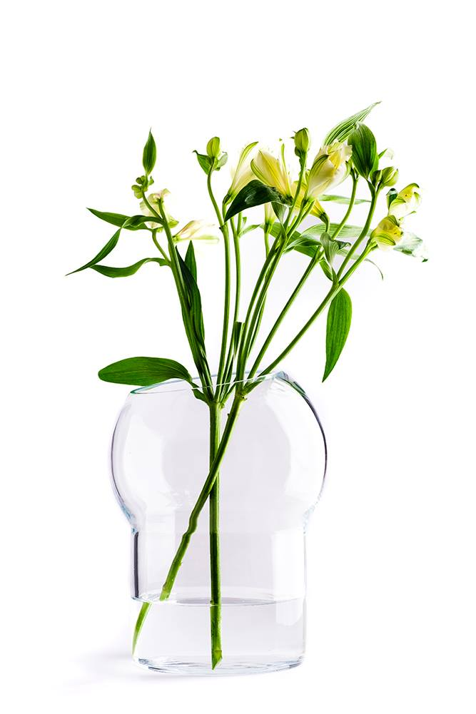 Bliss flower vase - transparent, icelandic design