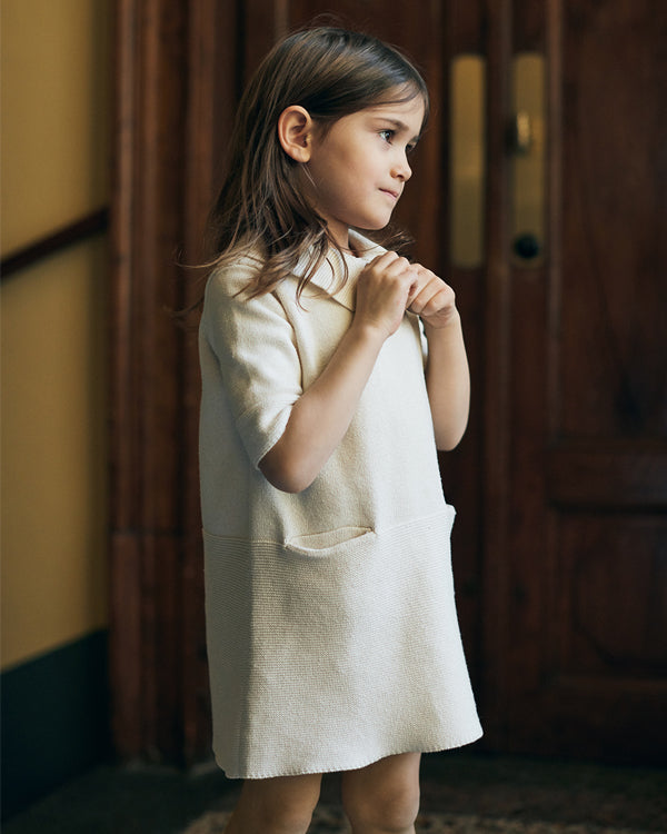 Sister dress in cream. Made from 100% durable cotton, icelandic design