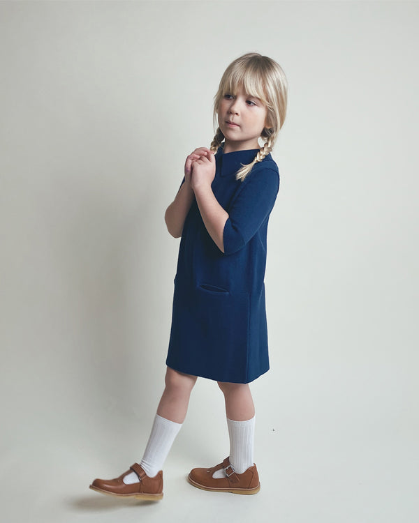 Sister dress in blue, made from 100% durable cotton, icelandic design