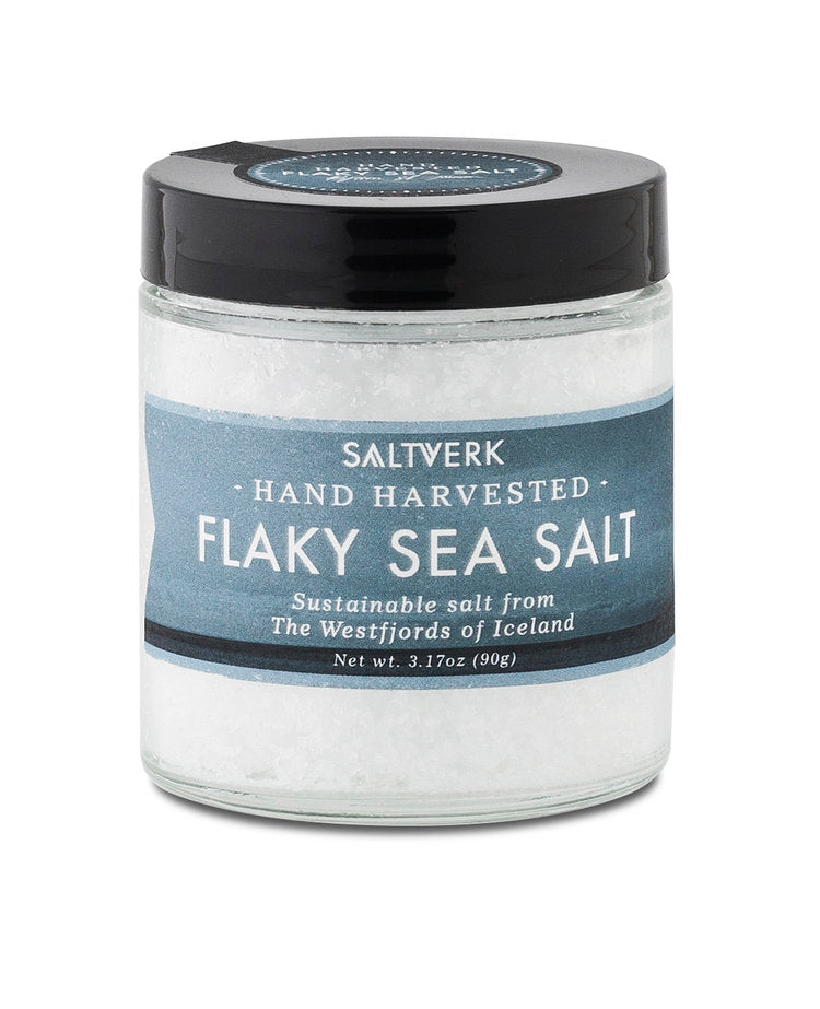 Saltverk Flaky Sea Salt is a crunchy, mineral-fresh sea salt produced using only energy from geothermal hot springs in the northwest of Iceland.