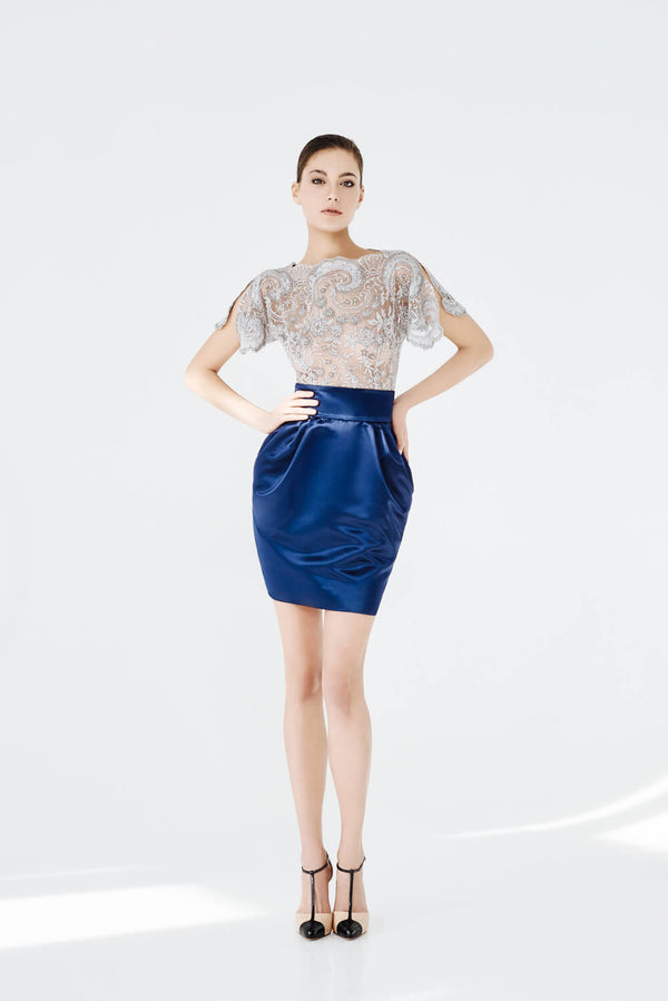 Autumn Leaves Top and Blue Bell Skirt