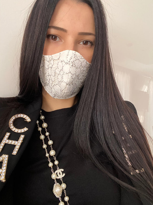 Snow Rose Lace Mask