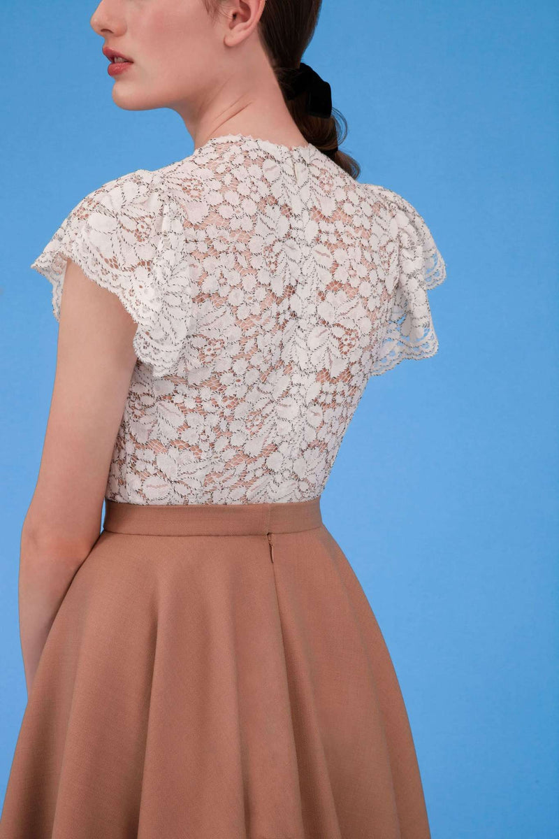 SNOW ROSE TOP