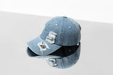 Distressed Denim Baseball Cap - TheGlamLab