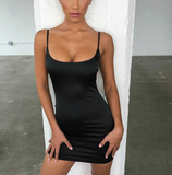 Slinky Mini Dress - TheGlamLab