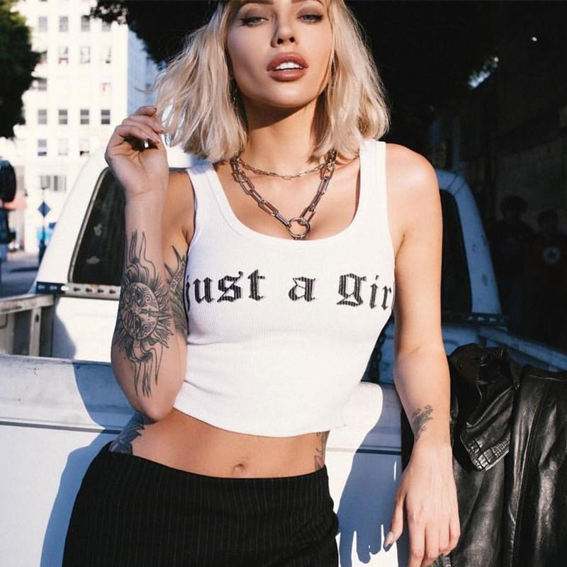 Just A Girl Crop Top - TheGlamLab