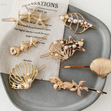 Shells and Starfish Metal hairpin - TheGlamLab