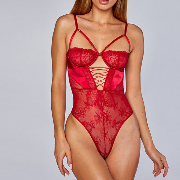 Cut-Out Lace Teddy
