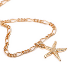 Seashell and Starfish Layered Necklace