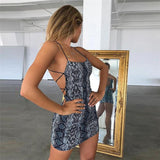 Strappy Python Mini Dress - TheGlamLab