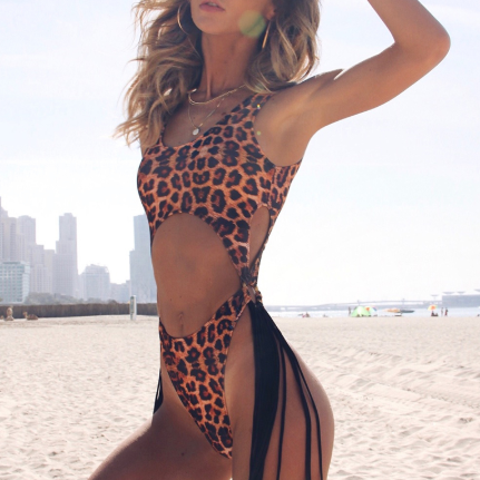 Cut Out Leopard One Piece - TheGlamLab