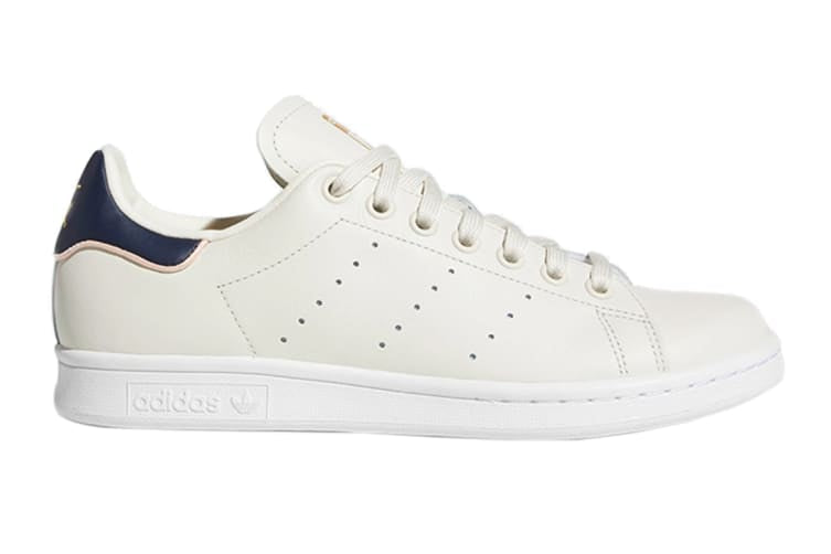 Adidas Originals Women's Stan Smith Shoes (Chalk White/Collegiate Navy)