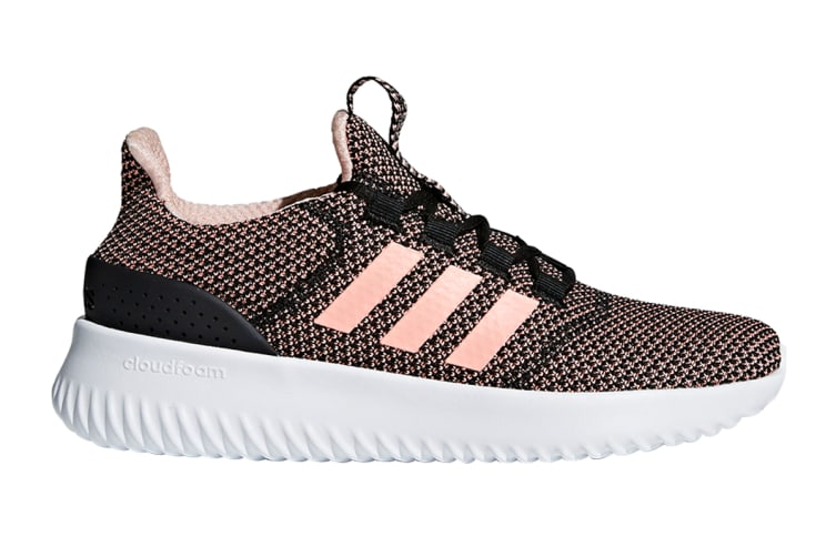 Adidas Neo Women's Cloudfoam Ultimate Shoe (Core Black/Orange/White)