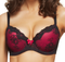 KAYSER BRA - Curve it Up - Louisa Balconette Bra - Black / Scarlet - 3 PACK