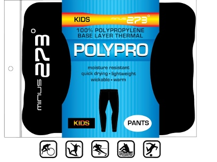 Minus 273 Polypro Thermal Kids Pant- Black