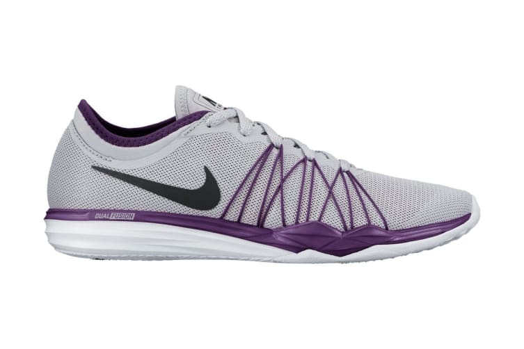 Nike Women's Dual Fusion TR HIT Training Shoe (Grey/Grape)