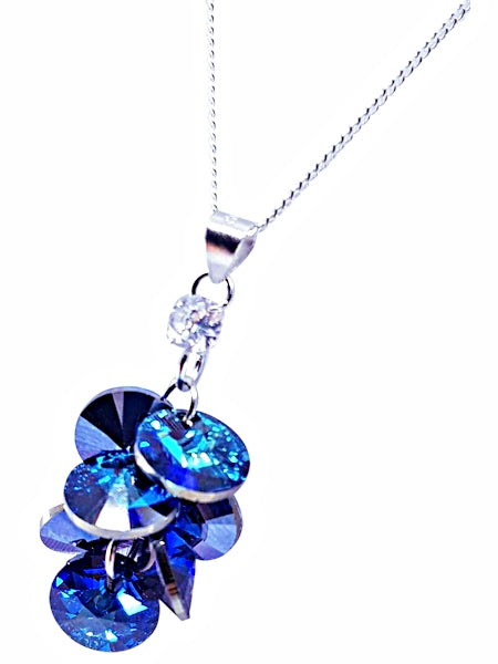 STERLING SILVER SWAROVSKI GRAPE NECKLACE